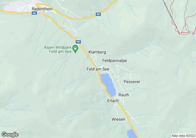 Map for Kärnten, Spittal an der Drau, Feld am See, Austria