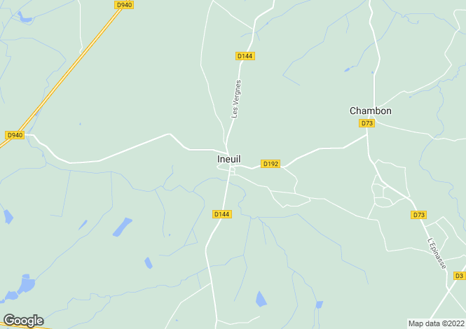 Map for ineuil, Cher, France