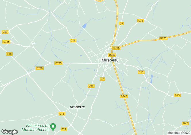 Map for mirebeau, Vienne, France