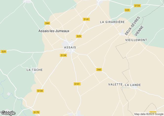 Map for assais-les-jumeaux, Deux-Sèvres, France