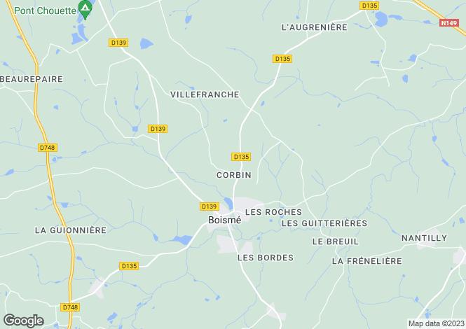 Map for boisme, Deux-Sèvres, France