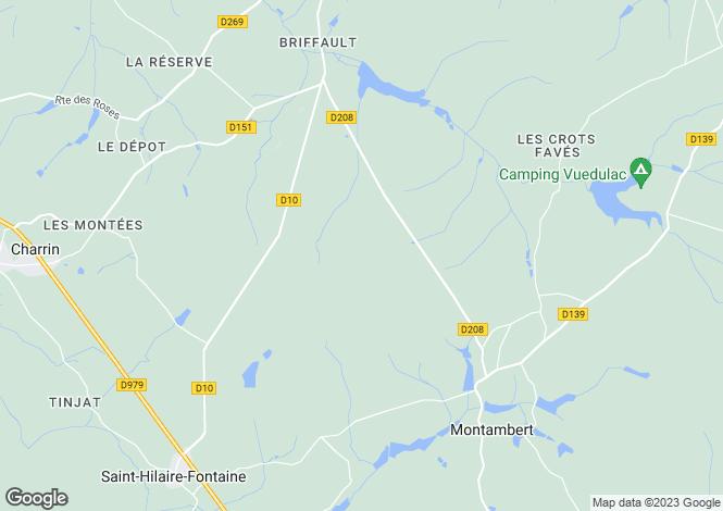 Map for Saint-Hilaire-Fontaine, Bourgogne, 58300, France