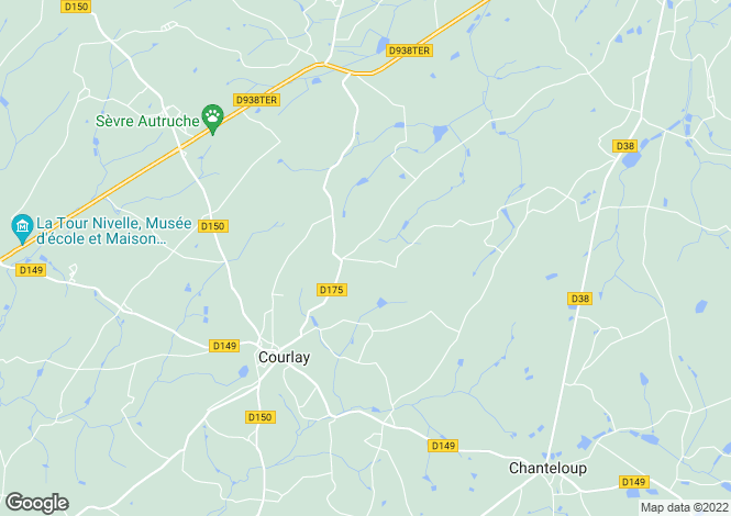 Map for courlay, Deux-Sèvres, France