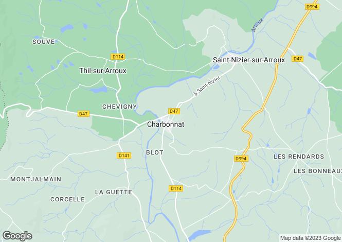 Map for Charbonnat, Bourgogne, 71320, France