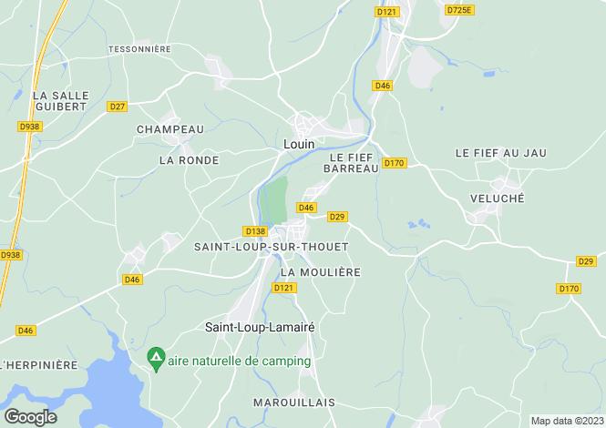 Map for st-loup-lamaire, Deux-Sèvres, France