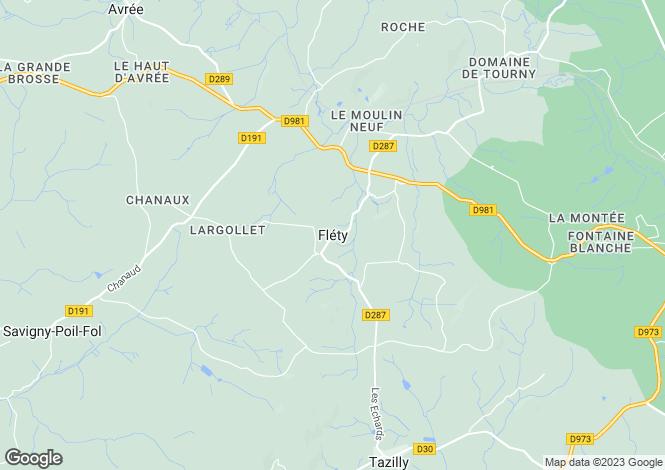 Map for Flety, Bourgogne, 58170, France