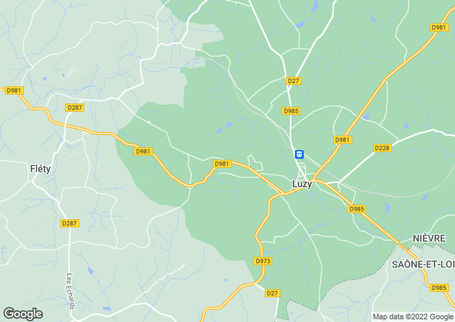 Map for Luzy, Bourgogne, 58170, France