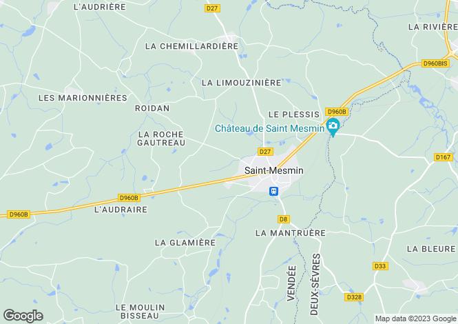 Map for st-mesmin, Vendée, France