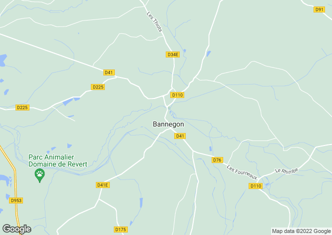 Map for bannegon, Cher, France