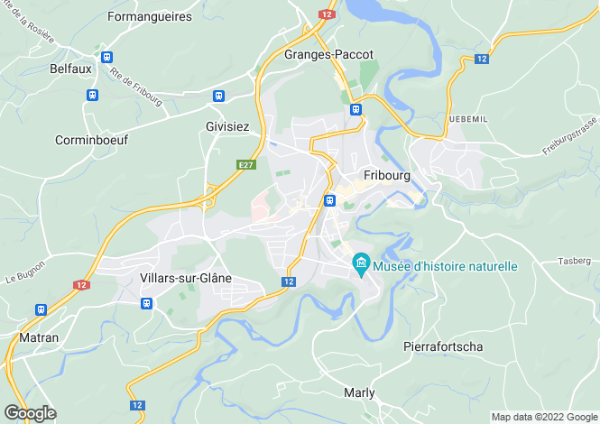Map for Fribourg, Fribourg