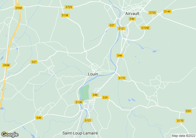 Map for louin, Deux-Sèvres, France