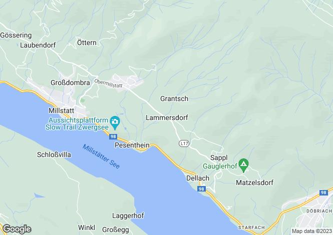 Map for Kärnten, Spittal an der Drau, Millstatt, Austria