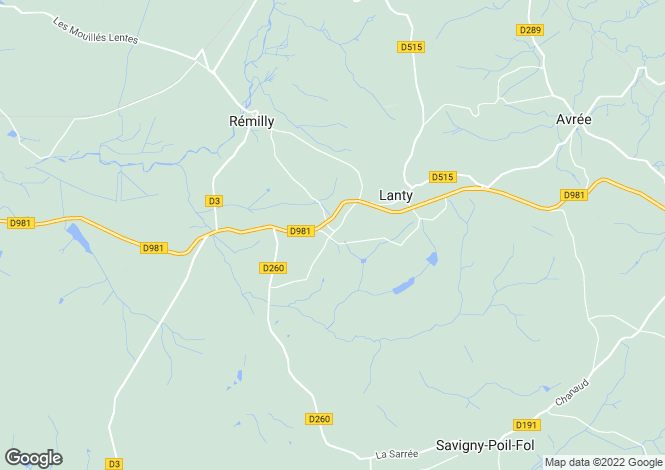 Map for Lanty, Bourgogne, 58250, France