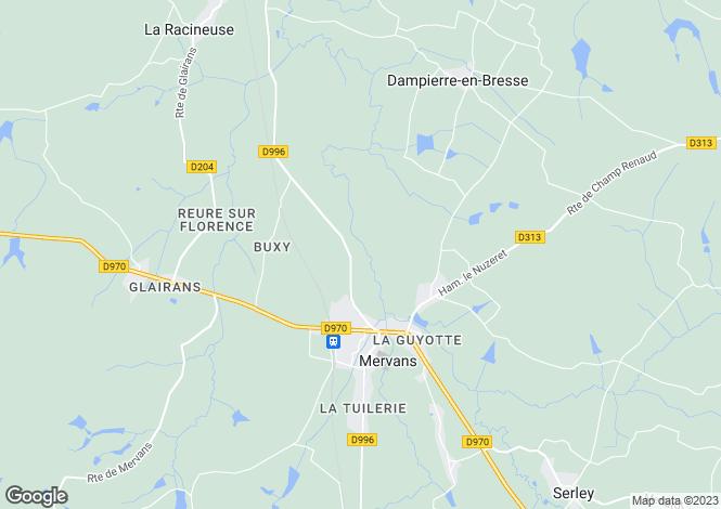 Map for MERVANS, SAONE ET LOIRE