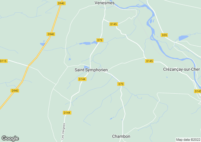 Map for st-symphorien, Cher, France