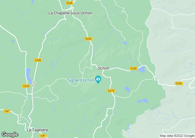 Map for UCHON, SAONE ET LOIRE