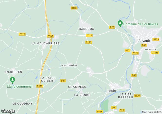 Map for tessonniere, Deux-Sèvres, France