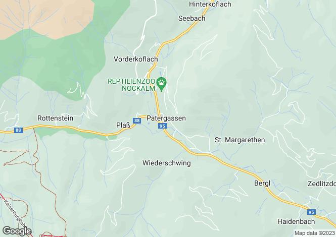 Map for Kärnten, Spittal an der Drau, Patergassen, Austria