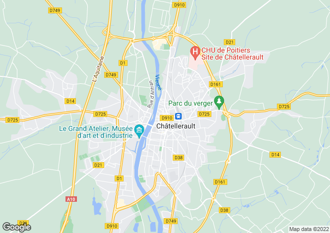 Map for chatellerault, Vienne, France