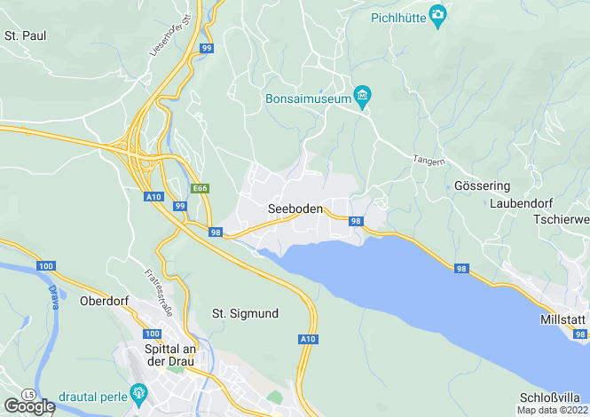 Map for Kärnten, Spittal an der Drau, Seeboden, Austria