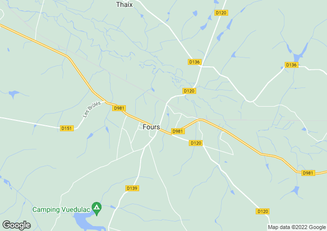 Map for Fours, Bourgogne, 58250, France