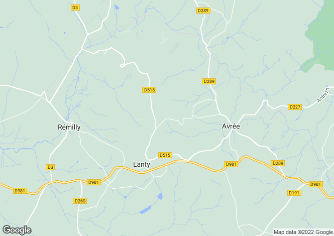 Map for Avree, Bourgogne, 58170, France
