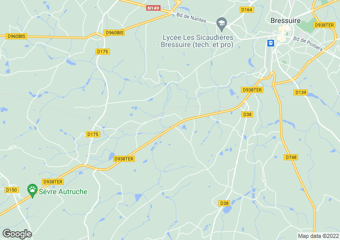 Map for Bressuire, Deux-Sèvres, 79300, France