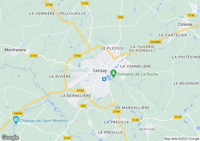 Map for Secteur: Cerizay, Deux-Sevres