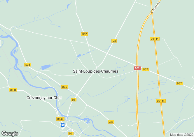 Map for bourges, Cher, France