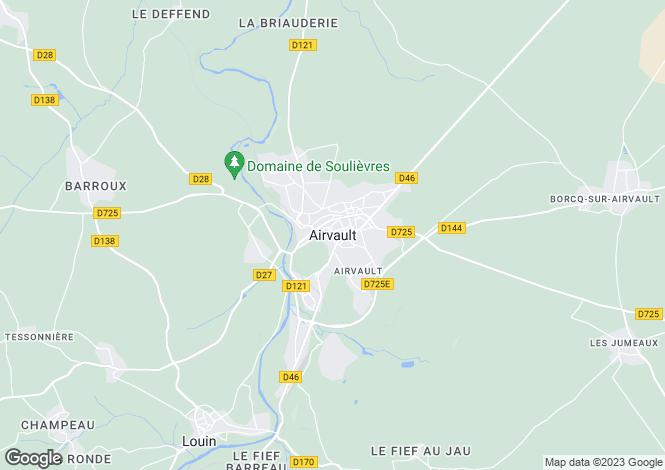 Map for Airvault, Deux-Sèvres, 79600, France