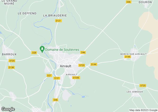 Map for Poitou-Charentes, Deux-Sèvres, Airvault