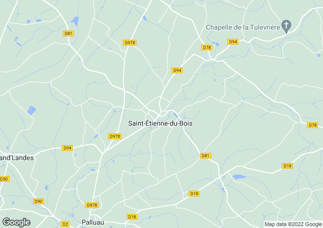 Map for st-etienne-du-bois, Vendée, France