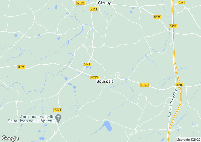 Map for boussais, Deux-Sèvres, France