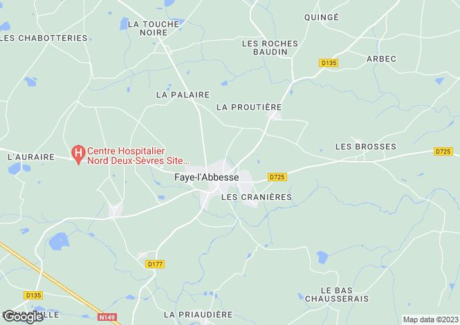Map for faye-l-abbesse, Deux-Sèvres, France
