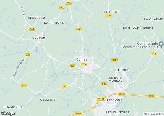 Map for cernay, Vienne, France