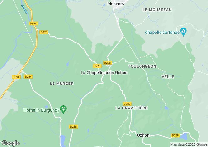 Map for La Chapelle Sous Uchon, Bourgogne, 71190, France