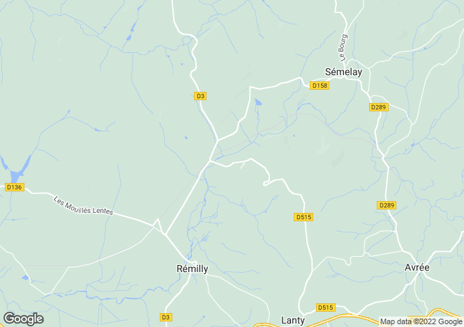 Map for Remilly, Bourgogne, 58250, France