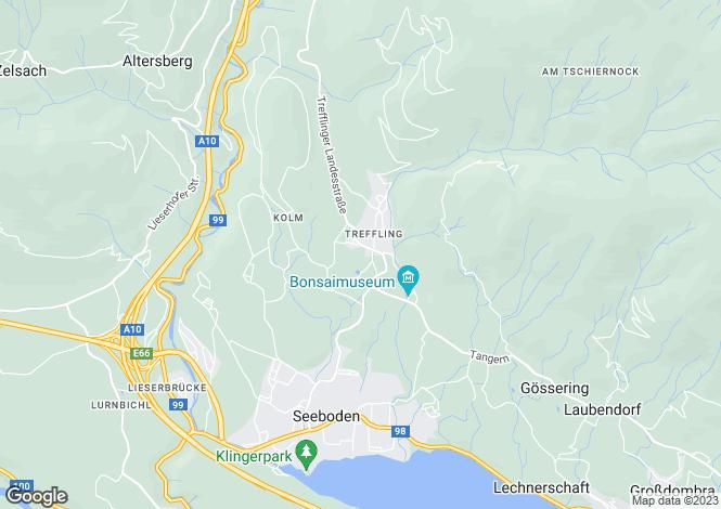 Map for Seeboden, Spittal an der Drau, Carinthia