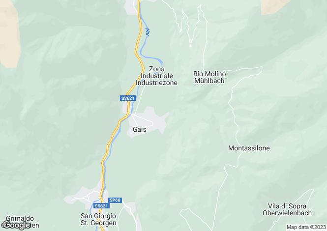 Map for Trentino-South Tyrol, Bozen, Gais