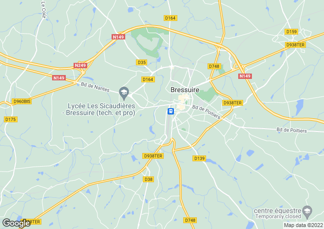 Map for bressuire, Deux-Sèvres, France