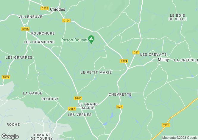 Map for Millay, Bourgogne, 58170, France