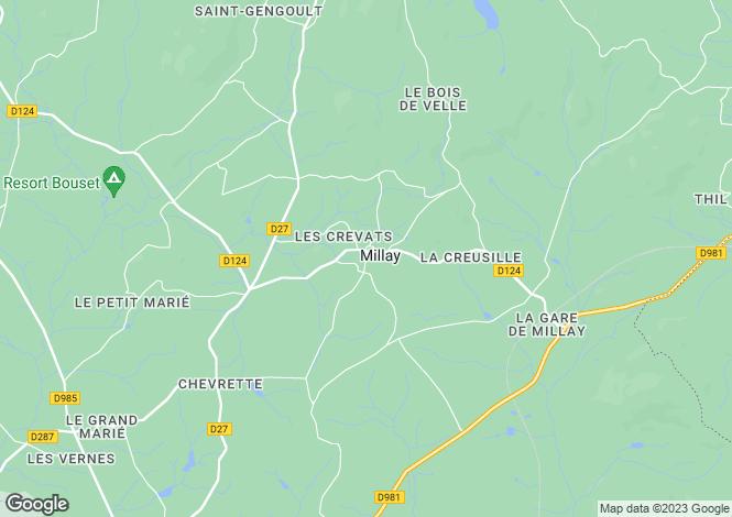 Map for Poil, Bourgogne, 58170, France