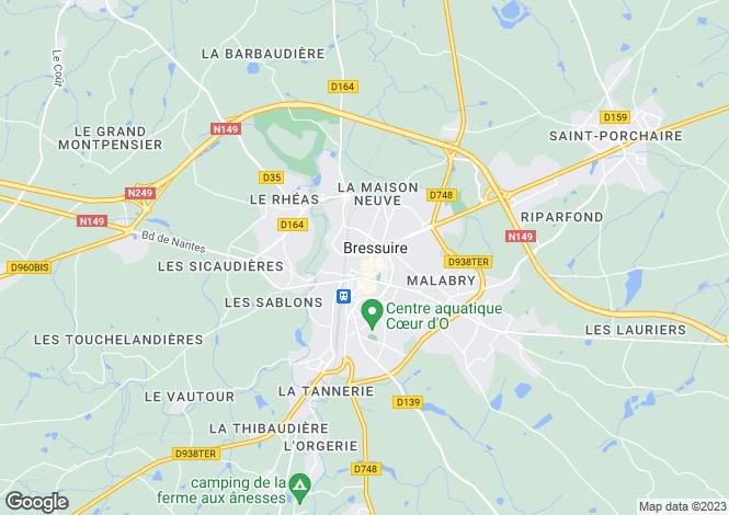 Map for Secteur: Bressuire, Deux-Sevres
