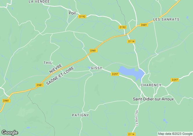 Map for Saint-Didier-Sur-Arroux, Bourgogne, 71190, France