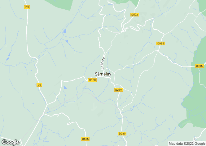 Map for Semelay, Bourgogne, 58360, France
