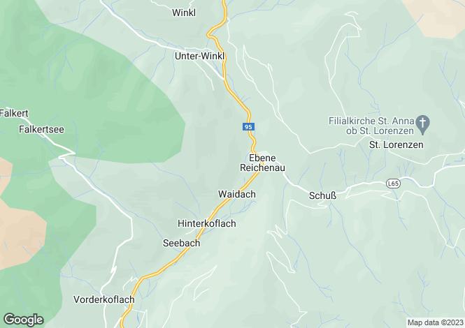 Map for Bad Kleinkirchheim, Spittal an der Drau, Carinthia