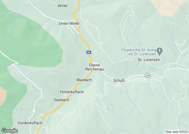 Map for Kärnten, Spittal an der Drau, Ebene Reichenau, Austria