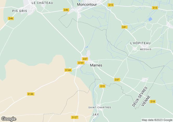 Map for marnes, Deux-Sèvres, France