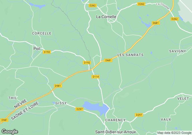 Map for La Comelle, Bourgogne, 71990, France