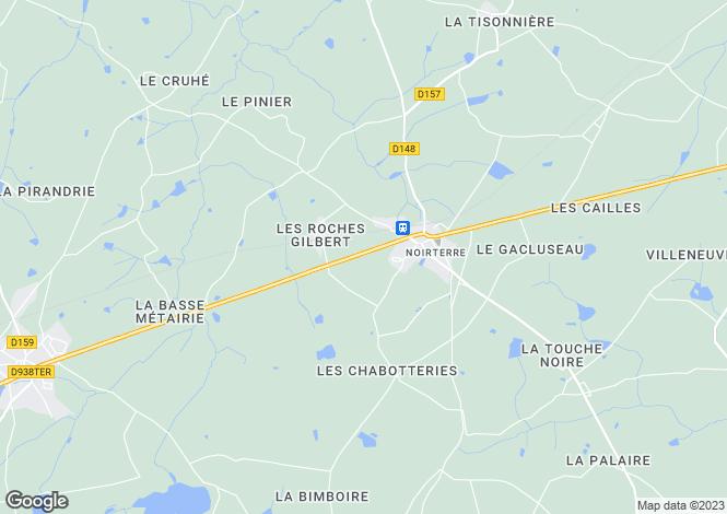 Map for noirterre, Deux-Sèvres, France